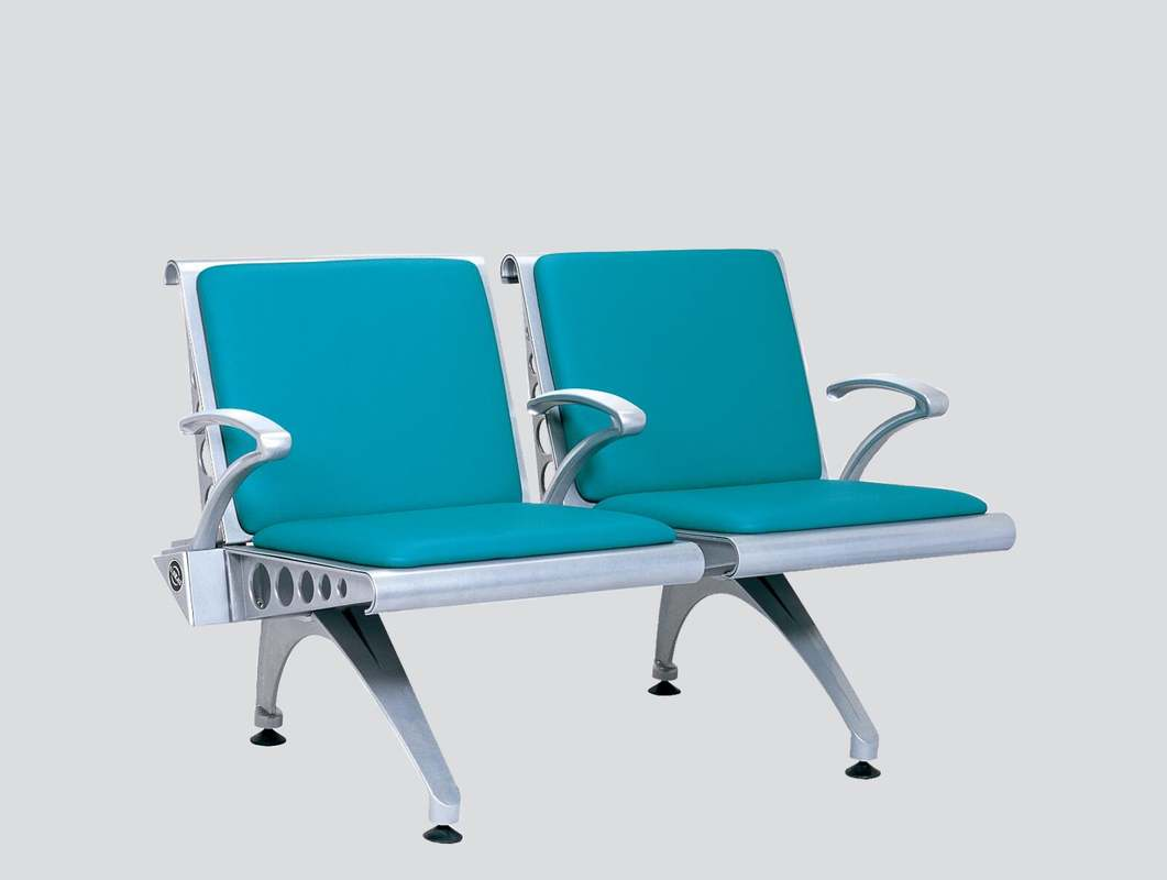 upholstered strong bench two seats with arms