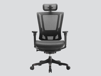 CEO Ergonomic Mesh chair black frame with headrest