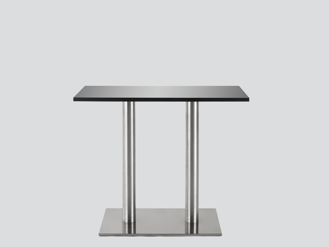 chrome folding legs table