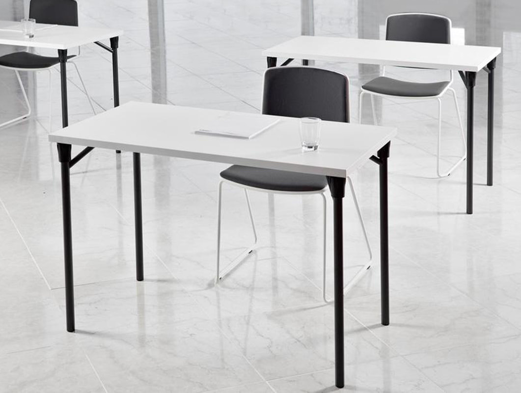 Italian black foldable table