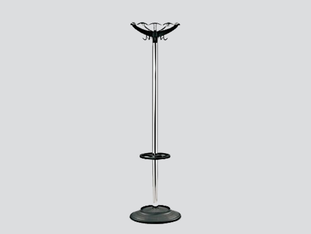 chrome coat hangers with umbrella stand