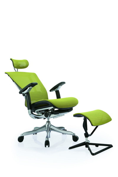 Manager Ergonomic Mesh chair aluminum frame with leg support