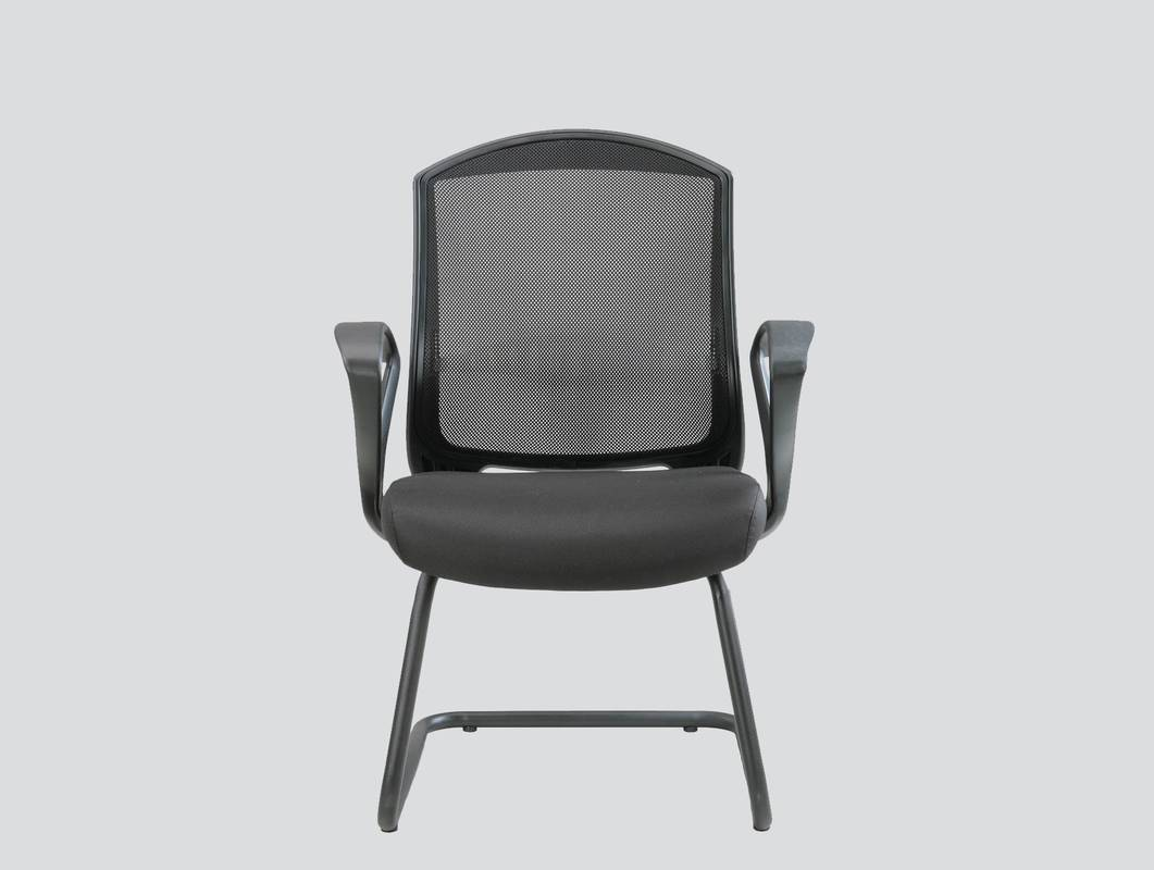 fabric and mesh strong guest chair with arms