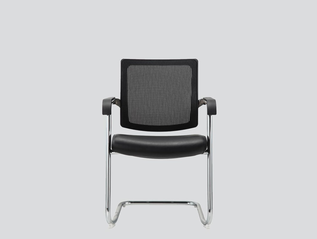 Cantilever guest chair mesh back with arms