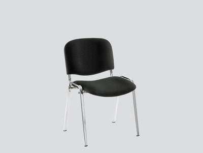 strong iso chair upholstered without arms chrome legs