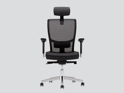Italian mesh chair with headrest