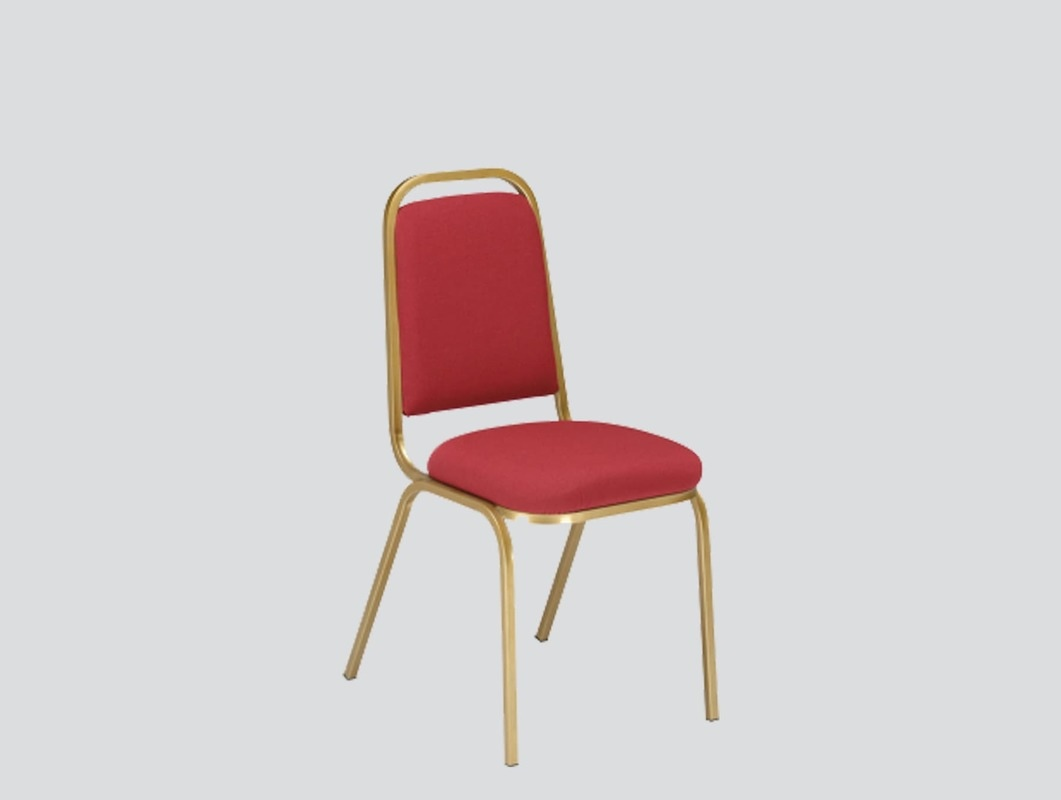 strong hotel chair red fabric