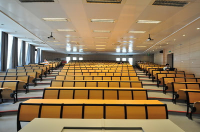lecture seating system tip up seat for BAU classroom