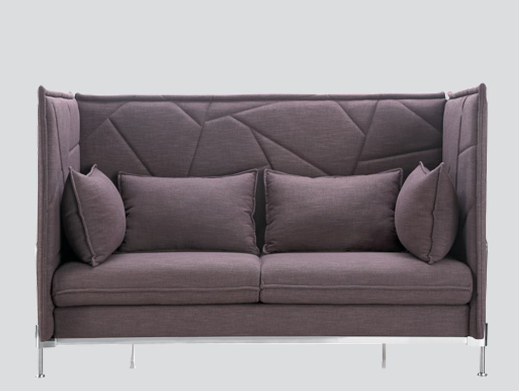 fabric sofa 2 seat for private chat