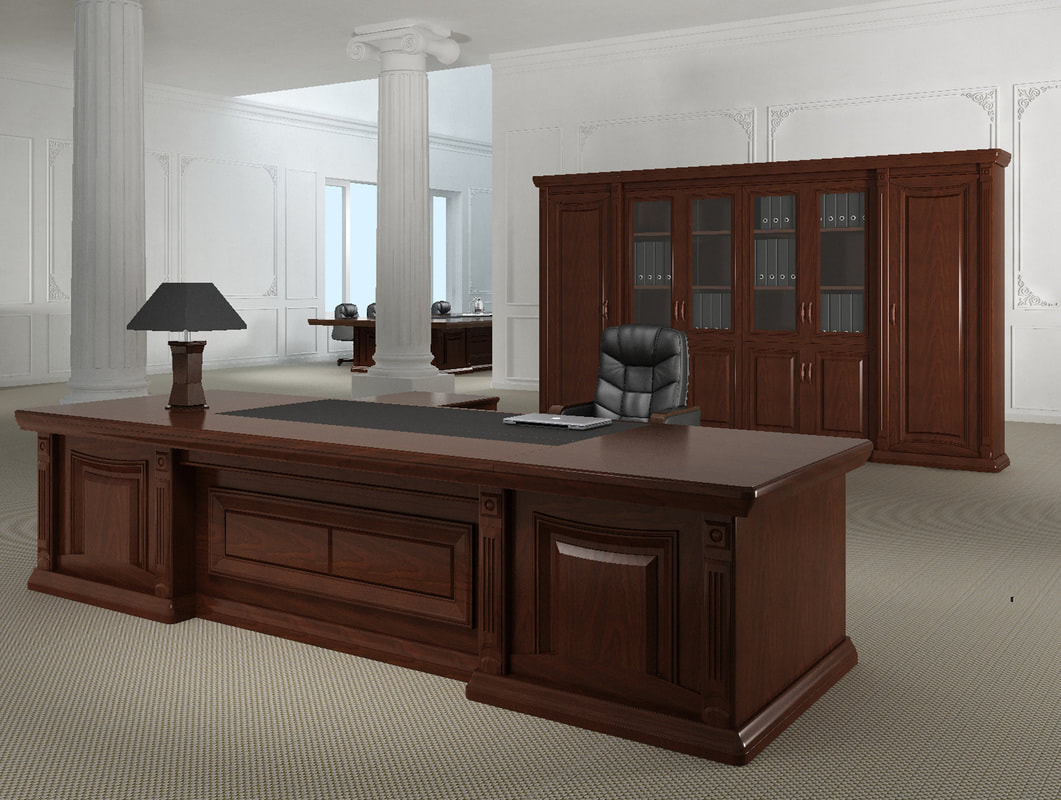 wood classic design desk for ministry
