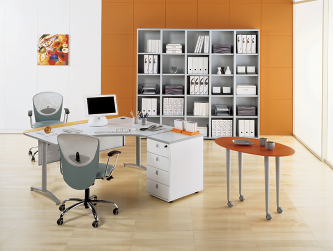 staff desk L shape with drawers