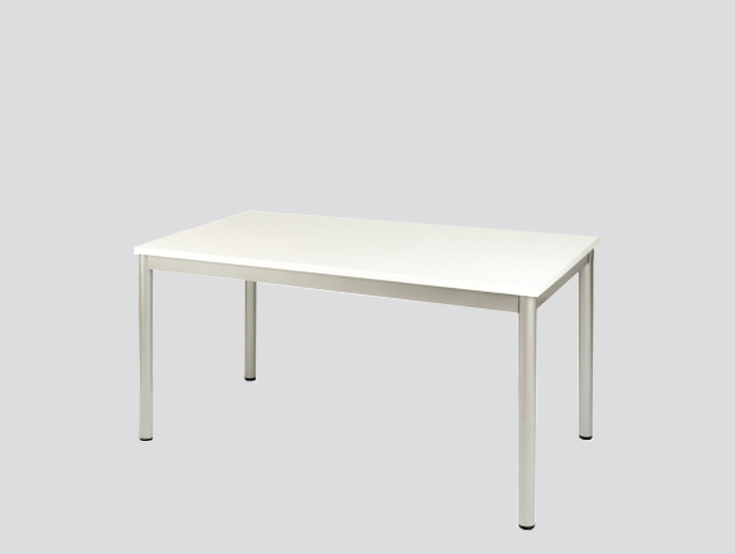 rectangular meeting table with steel legs