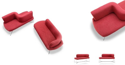 modern moody model different models and different compositions upholstered in red wood