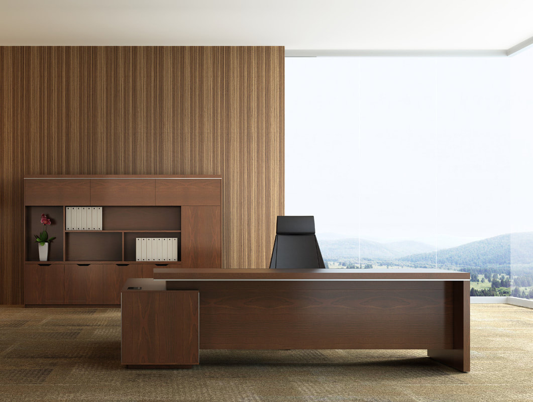 laminate manager desk l-shape with drawers