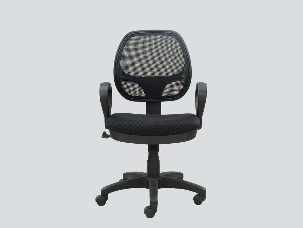 small mesh chair with arms