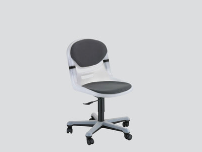 strong smile flex light grey plastic swivel chair without arms and upholstered fabric