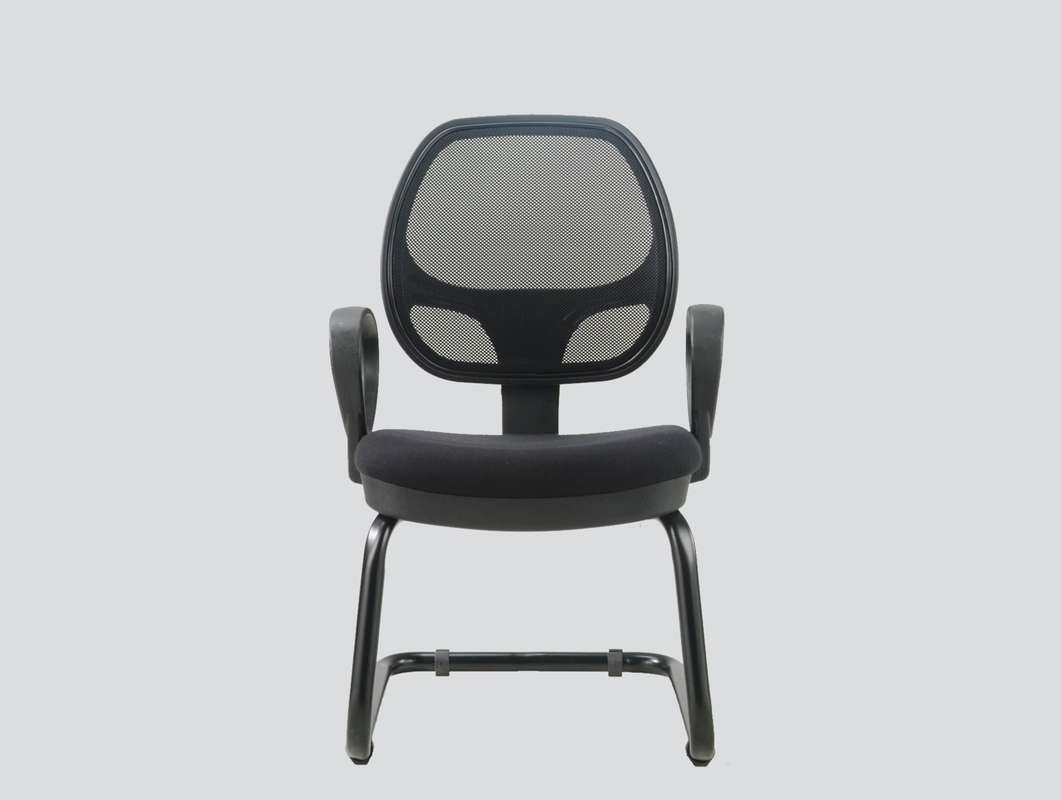 modern mesh guest chair with arms
