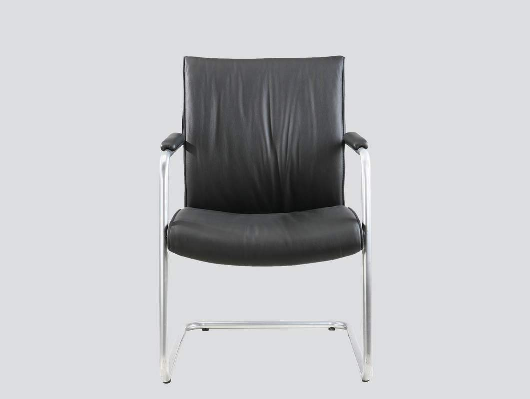 leather visitor chair with arms