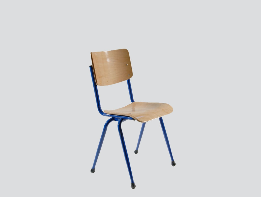 high quality classroom chair plywood seat and back